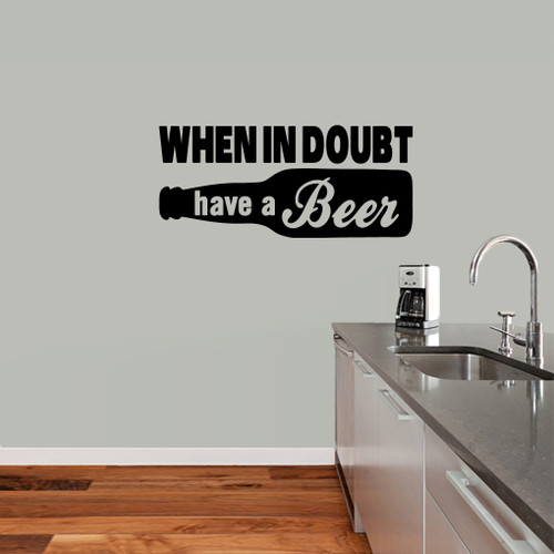 When in doubt have a beer man cave wall decals stickers