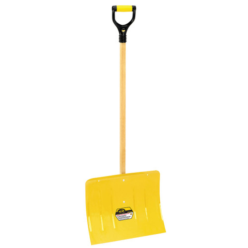 Spring Steel Snow Shovel with Square Handle