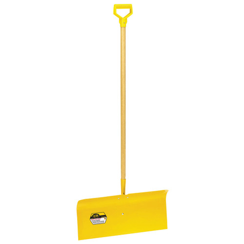 "24"" Spring Steel Snow Pusher with D-grip"
