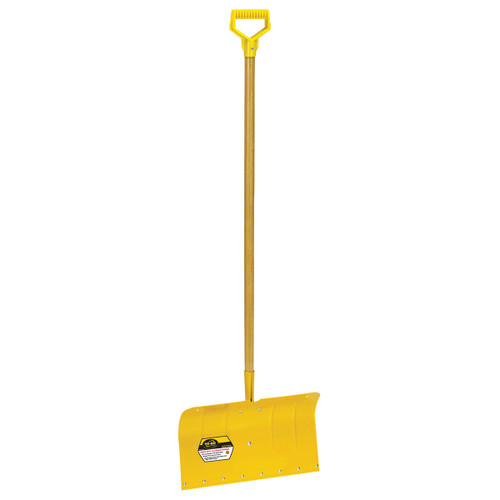 "18"" Heavy-Duty Aluminum Snow Pusher with D-grip"