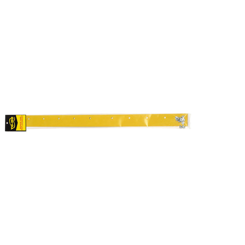 "24"" Yellow Wear Strip with Rivets"
