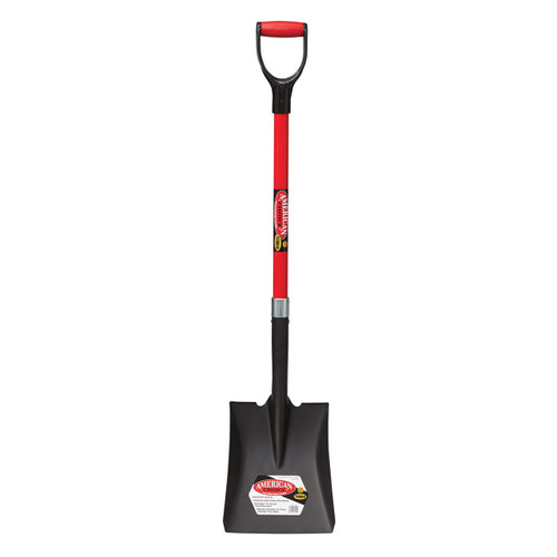 "Square Point Shovel, 32"" fiberglass D-handle"