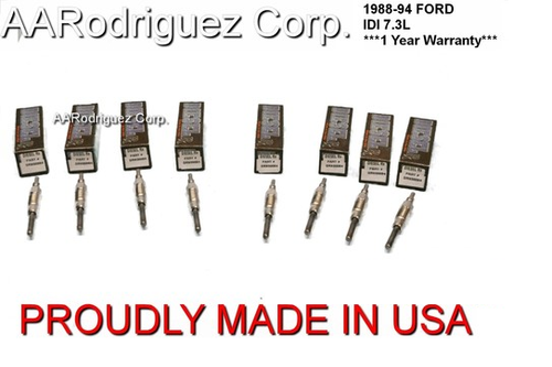 DieselRx  Glow Plugs for Ford IDI 7.3L 1988 - 1994 (Set of 8) DRx00084