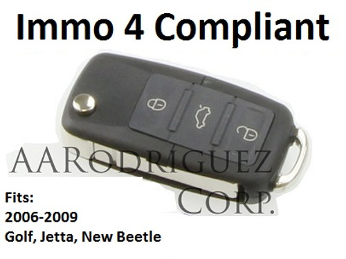 MK5 Key FOB - Genuine VW - 5K0-837-202-R - Golf/Jetta/New Beetle (5K0837202R)