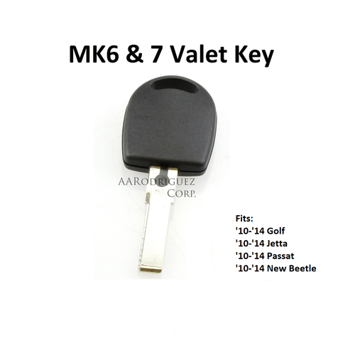 VW MK6 and 7 Valet Key - Waterproof!
