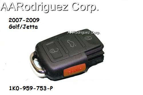 MK5 Key - Remote Half Only - AARodriguez - 1K0-959-753-P