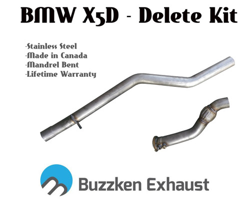 Buzzken - BMW X5D DPF and SCR cat delete - 3""
