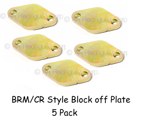 Mechanic's Supplies - BRM/CR Style Block off Plates - 5ct