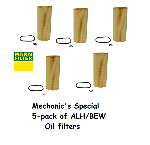 Mechanic's Special - 5 pack of ALH and BEW oil filters