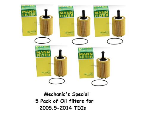 Mechanic's Special - 5 pack of Oil Filters - BRM CBEA CJAA