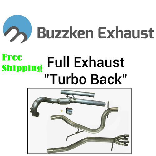 "BuzzKen MK4 TDI - Full Exhaust Kit (1998-2005) Golf / Jetta / JSW / New Beetle - 2.5"" Downpipe Kit"