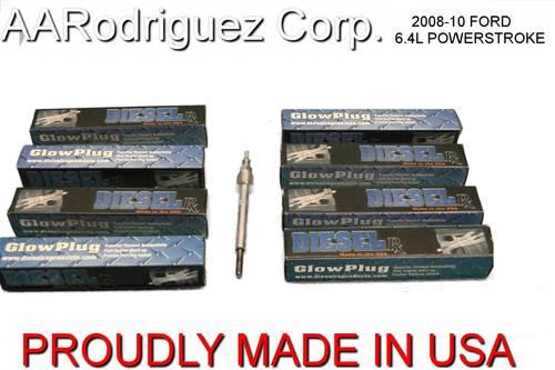 DieselRx DRX00542 Glow plugs for Ford 6.4 Powerstroke 2008 - 2010 (Set of 8)
