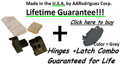 Armrest Hinge and Latch Combo ( Grey )