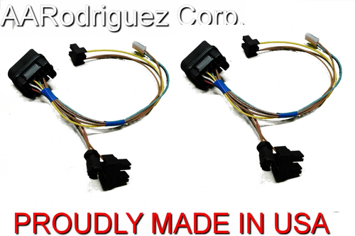 (2) Brand New, Complete VW MKIV Golf Headlight Wiring Harness 1999.5 - 2005 Genuine OE Components