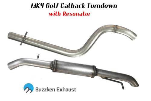 "2.5"" or 3"" MK4 TDI ""Hidden"" Catback by BuzzKen"