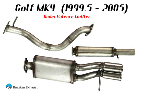 """2.5"""" Stainless Steel MK4 Catback by Buzzken"""