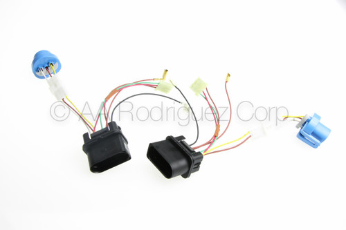 (2) New, Complete Jetta Headlight with Fog Lights Wiring Harness 1999 - 2005 VW MK4 Genuine OE Parts