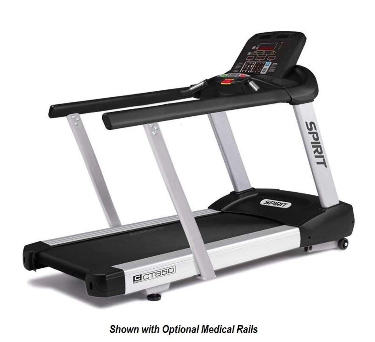 Spirit Fitness CT850 Treadmill Medical Handrails Option - Exertools