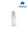 Single contact, standard pins. BA 15 LED Bulb for Interior Wall fixtures.