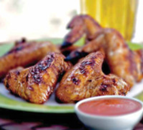 Recipe:  Hoisin Honey Glazed Chicken Wings