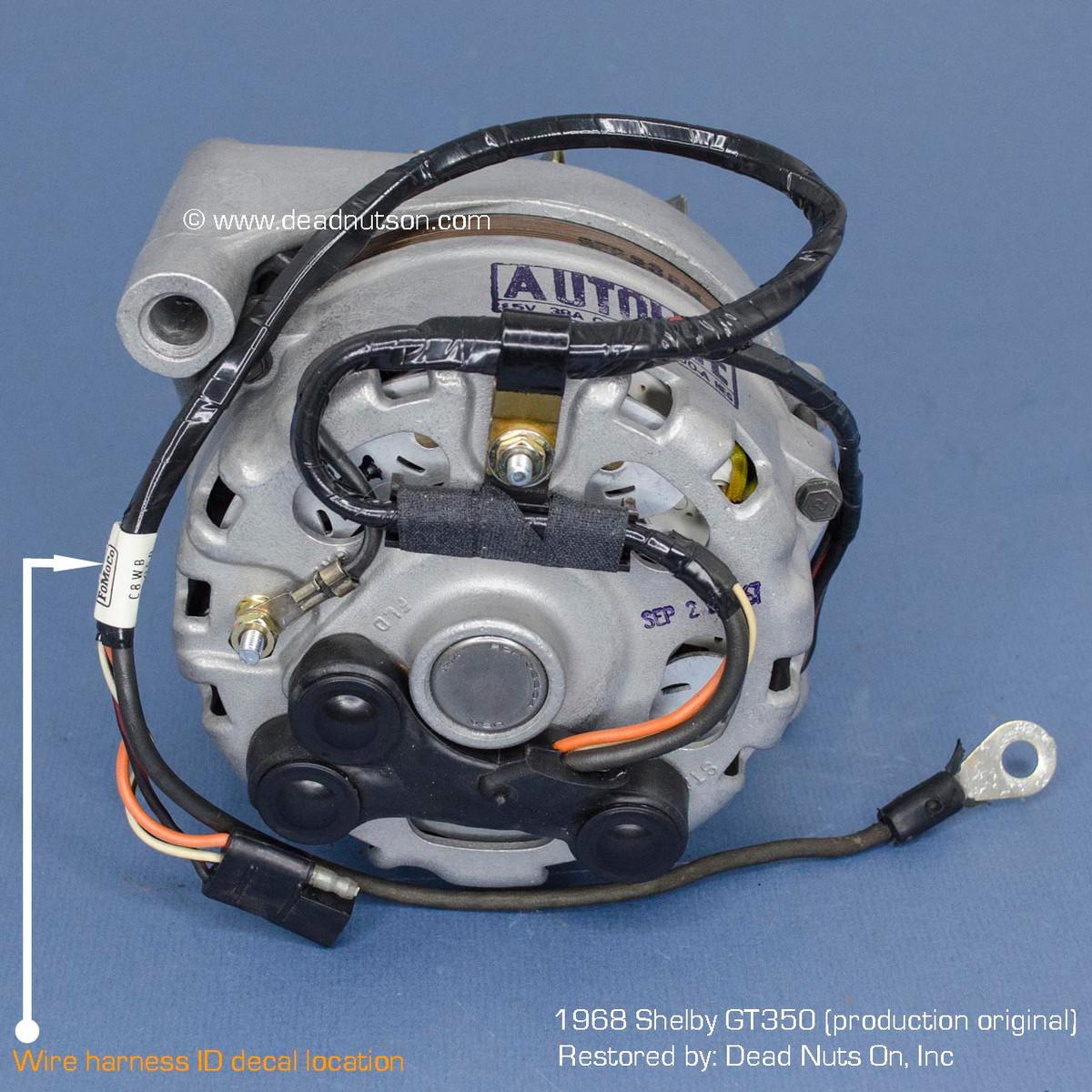 1968 mustang alternator wire harness tag 289,302 tach dash dead
