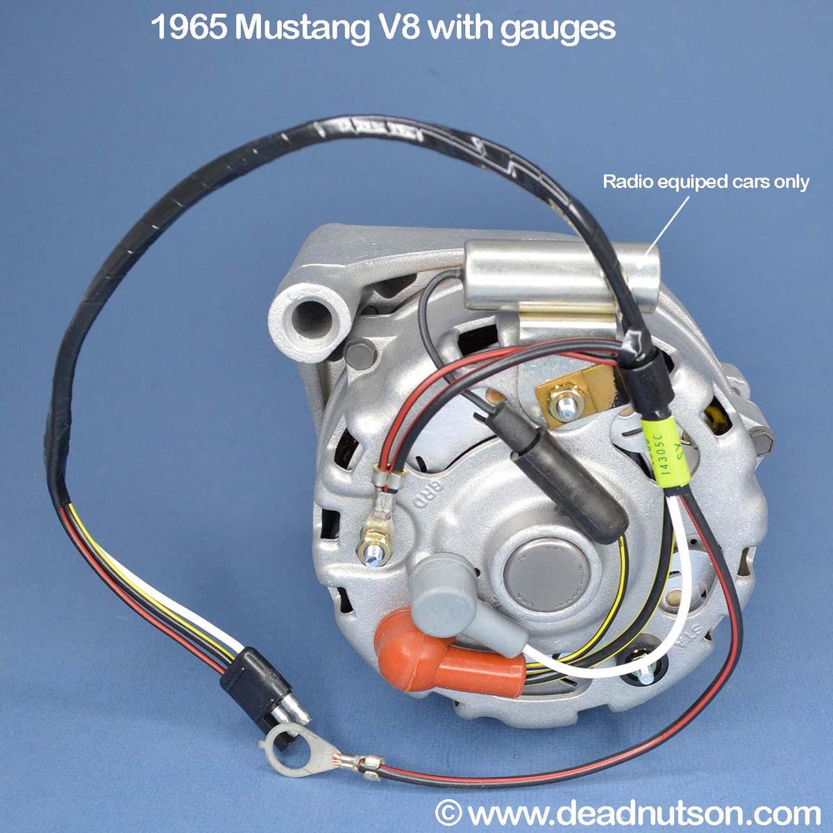 1965 Alternator Wire Harness V8 (with gauges) - Dead Nuts On