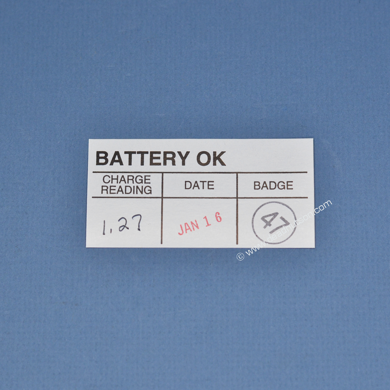Battery Inspection Decal (Stamped)