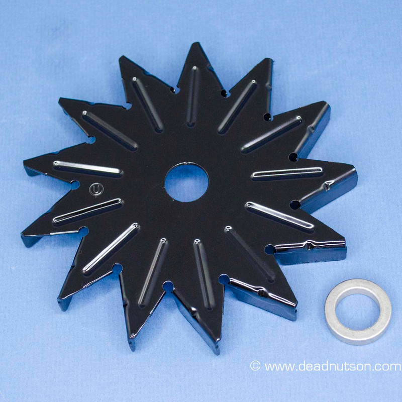 13 Blade Alternator Cooling Fan & Spacer (before late May 1965)