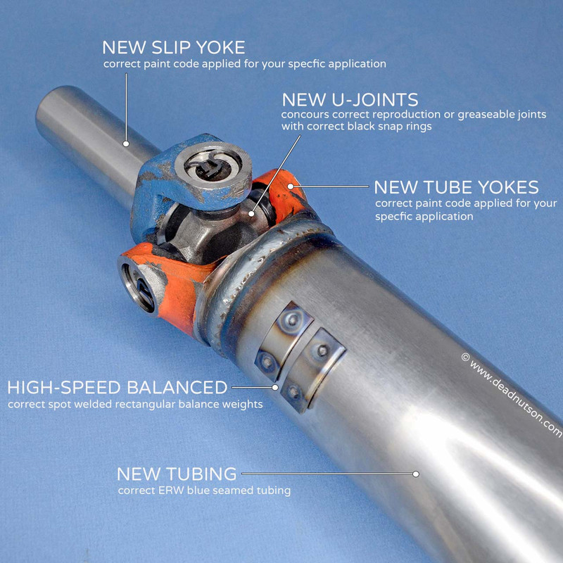 1969 390 4-speed Reproduction Driveshaft