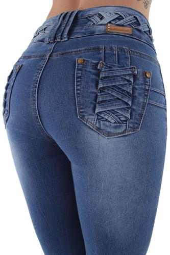 A10175 - Colombian Design, Butt Lift, Levanta Cola, Skinny Jeans