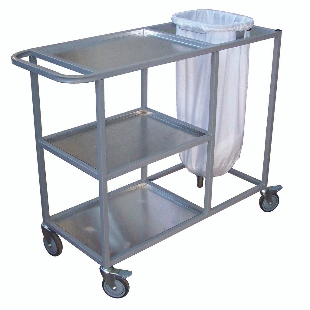 3 shelf Aluminium Laundry Trolley