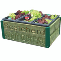 6 planter Garden box ( including engraving ) (JP3EN)