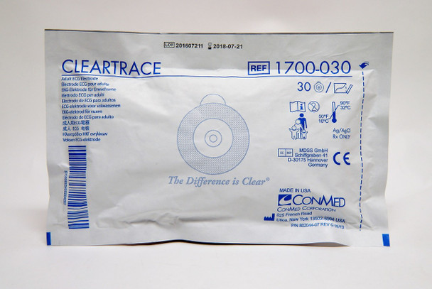 ConMed Cleartrace Adult ECG Electrodes  30-Pack