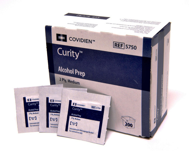 Covidien Alcohol Prep Pads Without Pumice (1 box)