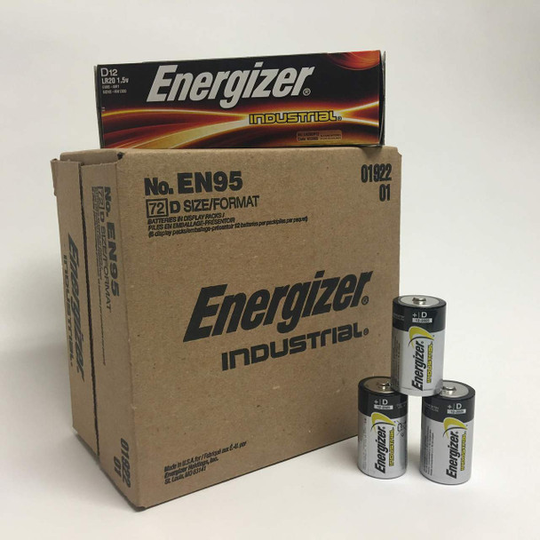 Energizer Industrial D Batteries - Case of 72