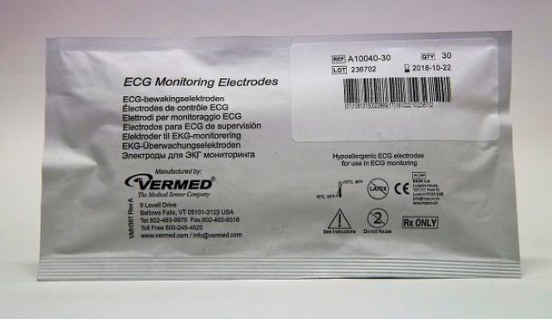 Vermed Pediatric Cloth Solid Gel Electrodes (60 pks)