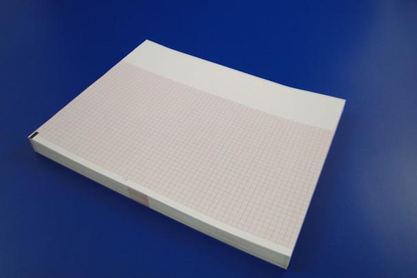 Chart Paper Thermal 216 X 280 mm Fan-Fold Red Grid