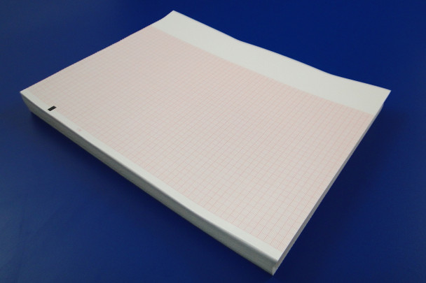 ELI Series Z-fold Red Grid Thermal Chart Paper