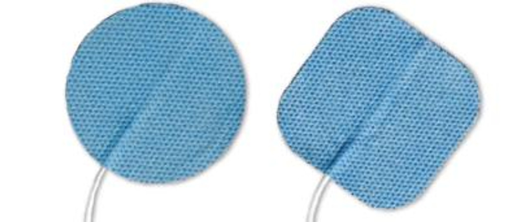 """Soft-Touch Carbon Electrodes Cloth Back (Tyco Gel) - 1.0"""" Round- Qty: 10 Packs Of 4 Electrodes/Pack"""