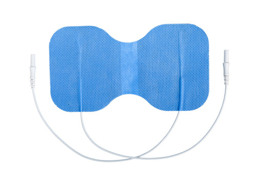 "Soft-Touch Carbon Electrodes Cloth Back (Tyco Gel)Butterfly 6""X 3.3"" Qty: 10 Packs (1each/Pack)"