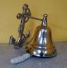 Ships Bell Aluminum Anchor Bracket Nautical Wall Decor