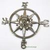 Compass Rose Windrose Chrome Finish Nautical Wall Decor