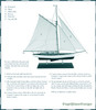 1930s Classic Yacht Wooden Model Nautical Instructions