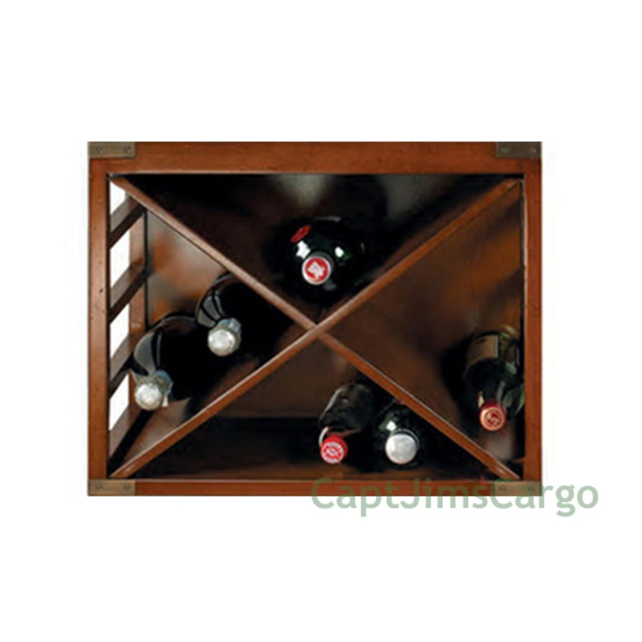 Bottle Wine Rack Unit #2 Bookcase Stacking Nautical Bar