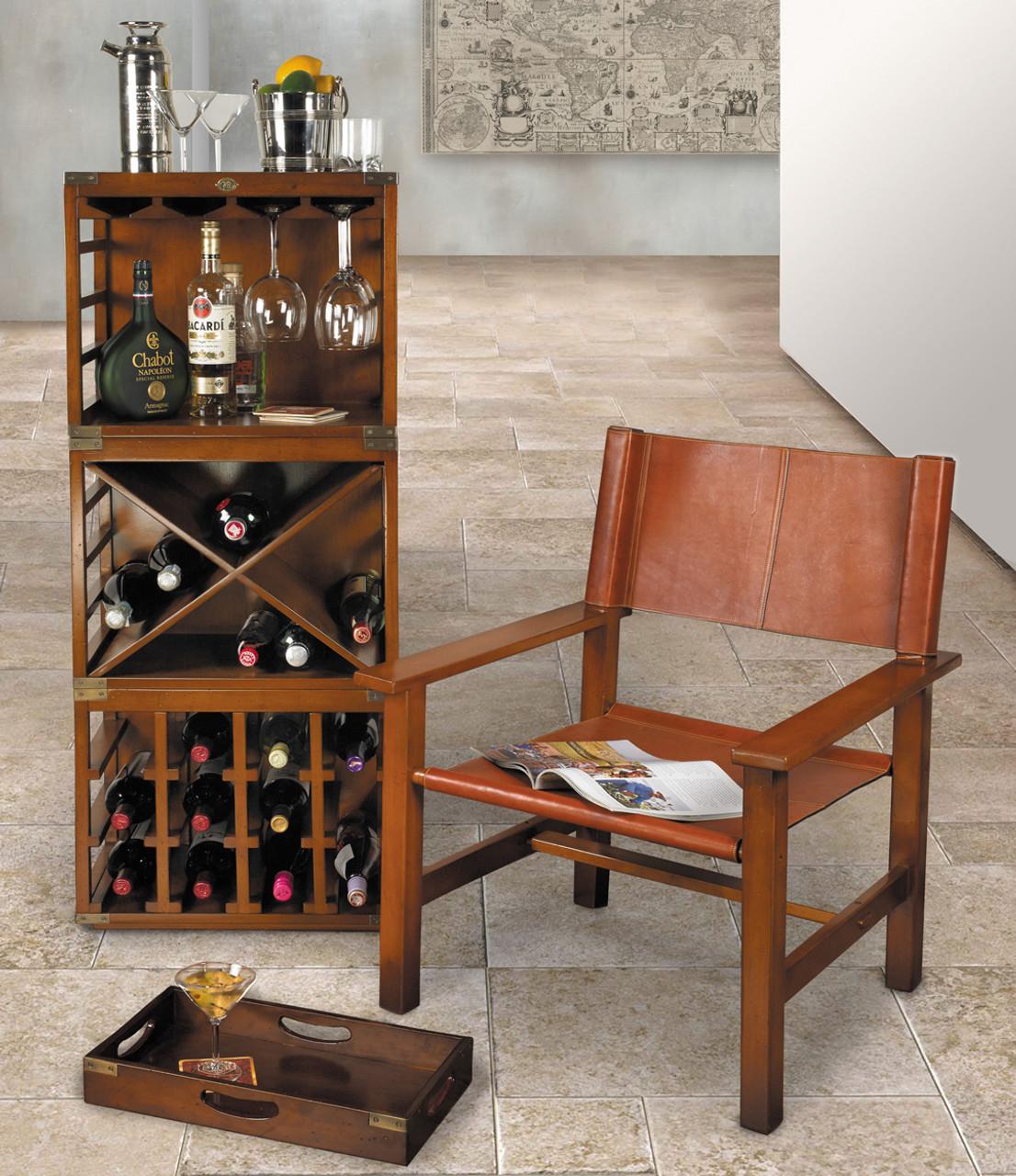 Wine Bottle & Glass Rack Units Stacking Nesting Bar