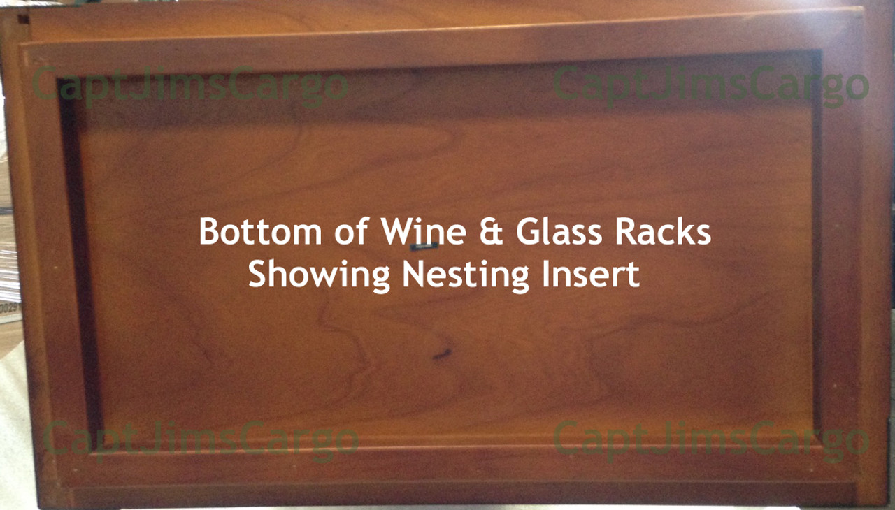 Complete Set of 4 Wine Bottle & Glass Rack Units