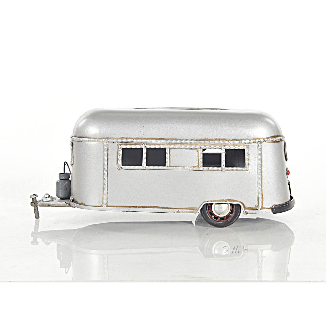 "Rectangular Tissue Holder Travel Camping Trailer Metal Model 12"" Camper"