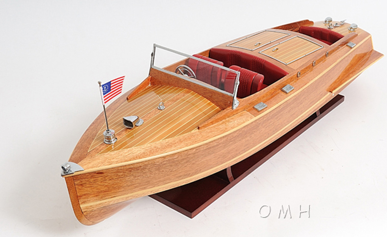 Chris Craft Runabout Wooden Model Power Speed Boat