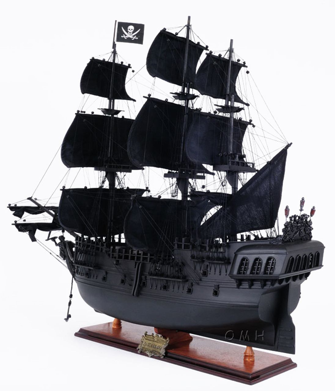 Black Pearl Caribbean Pirate Ship Wooden Model