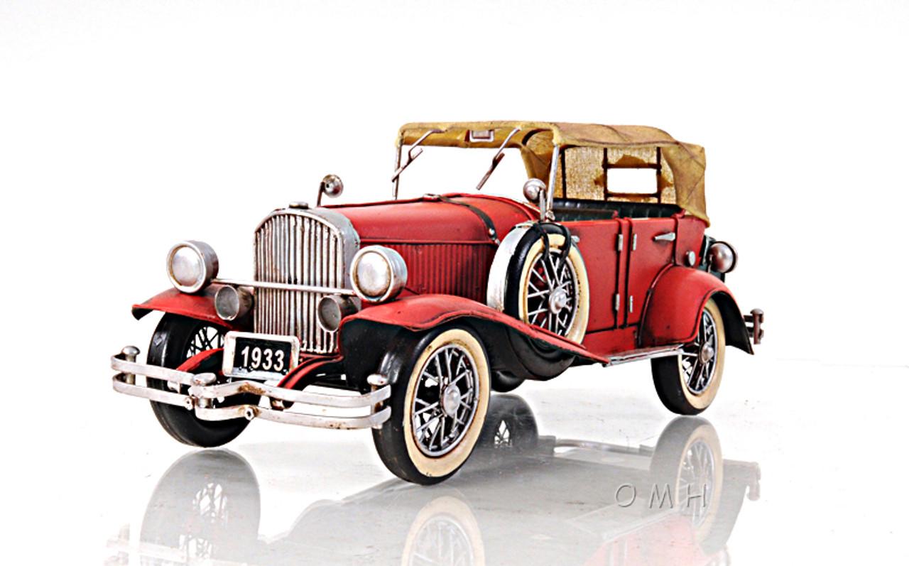 1933 Duesenberg SJ Metal Desk Top Car Model